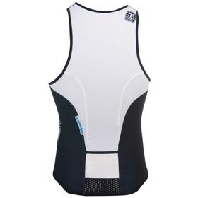 Bioracer Tri Top Zipper - blanco/negro